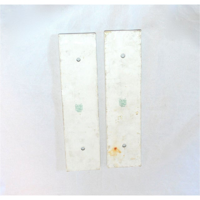 Limoges Golden Arrow Push Plates- A Pair - Image 8 of 9