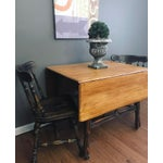Image of Black Distressed Drop Leaf Dining Table & Chairs - Set of 3