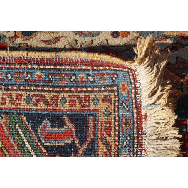 Antique Hand Woven Persian Heriz Rug - 11′6″ × 16′8″ - Image 7 of 10