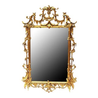 Italian Rococo Style Gilt Wood Mirror