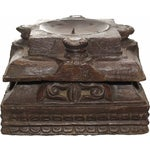 Image of Carved Tiered Pillar Base Candle Holder