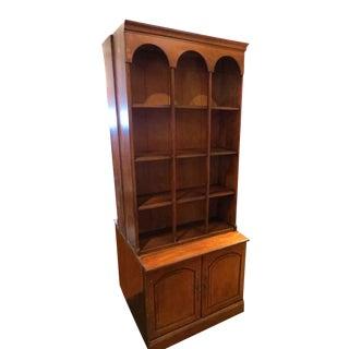 Walnut Bookcase with Cabinet Storage