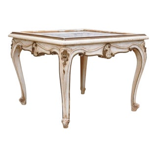 Antique French Louis XV Style Painted Marble Table