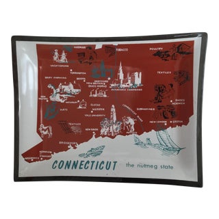 Mid-Century Connecticut Glass Tray