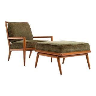 T.H. Robsjohn-Gibbings Lounge Chair and Ottoman