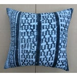Image of Gray Batik Cotton Tribal Pillow