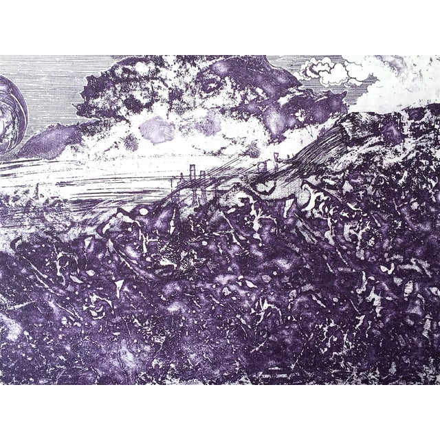 Image of Lajos Kondor Vintage Surreal Abstract Etching