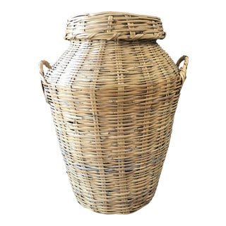Vintage Large Floor Basket