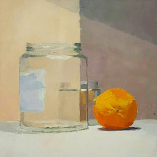 """Orange and Jars"" Original Oil Painting"