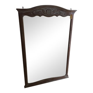 Refinished Antique Taupe-Gray Louis XV Mirror