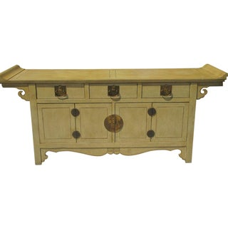 Baker Furniture Company James Mont Style Tan Chinese Credenza