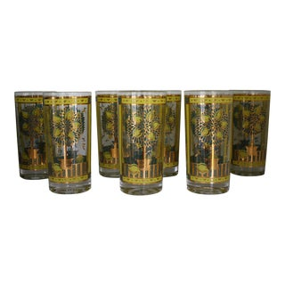 Georges Briard Lemon Tree Highball Glasses - Set of 8
