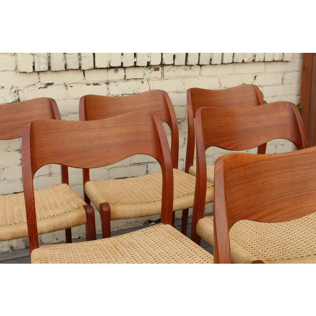 Moller Model 71 Teak Dining Chairs - Set of 6 - Image 7 of 11