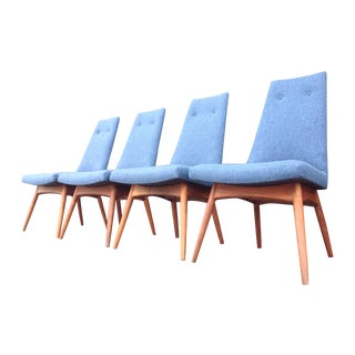 Blue Adrian Pearsall Dining Chairs - Set of 4