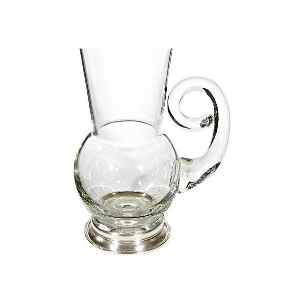 Image of 1950's Sterling-Base Glass Pitcher