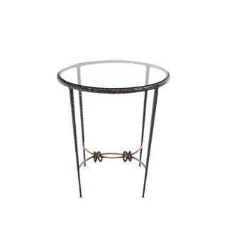 Round Solid Brass Center Table