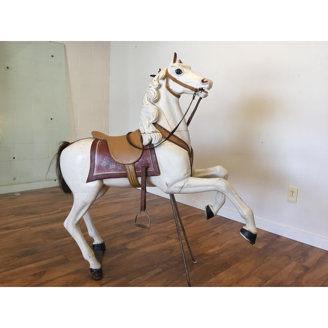 Antique Carved Wood Carousel Horse - Image 3 of 11