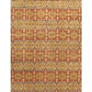 Pasargad's Ikat Wool Rug - 4′1″ × 6′2″