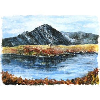 Mountaintop Lake Oil Painting