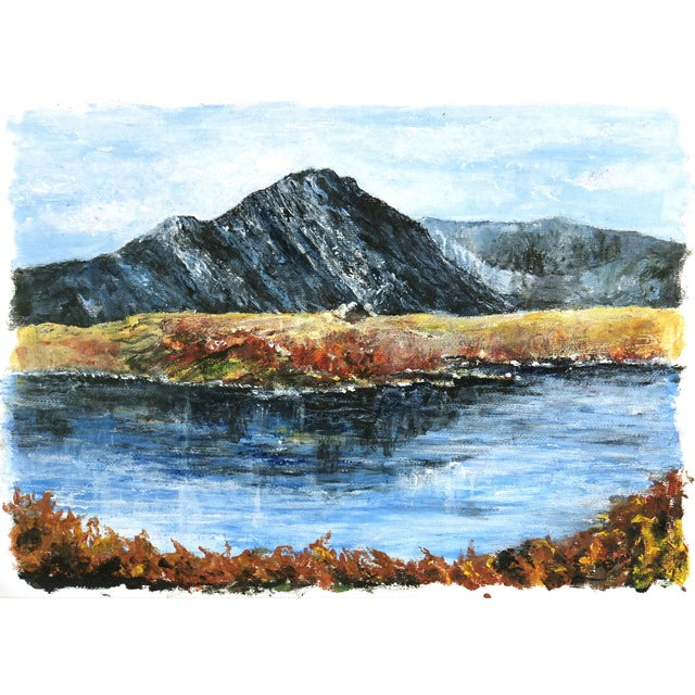 Image of Mountaintop Lake Oil Painting