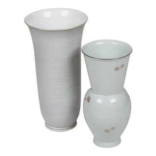 Set of Two KPM Porcelain Vases