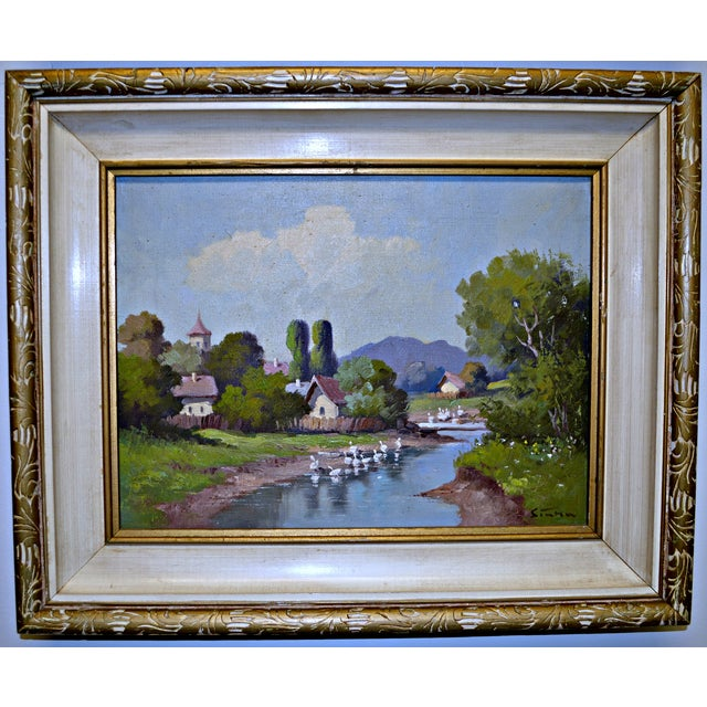 1950's Framed Canvas Triptych - Image 5 of 8
