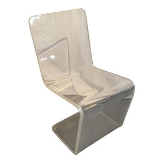 Mid Century Modern Sculptural Thick Lucite Chair