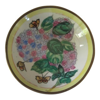Hydrangeas & Butterflies Wall Plate
