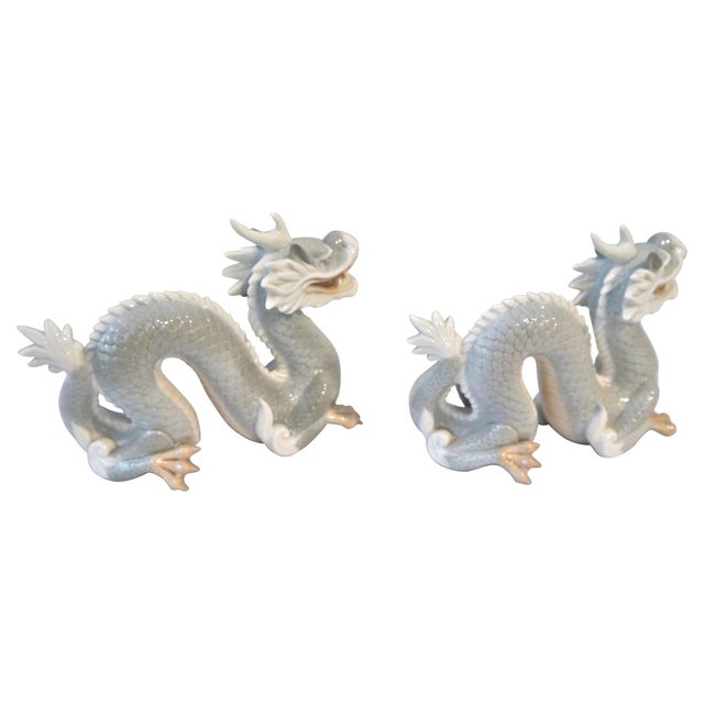 Vintage Japanese Porcelain Dragons - A Pair - Image 4 of 5