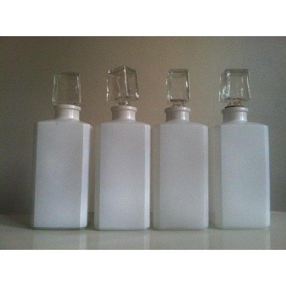 Vintage Milk Glass Liquor Bottles - 4 - Image 4 of 6