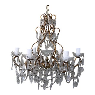 6-Light Crystal Macaroni Beaded Chandelier