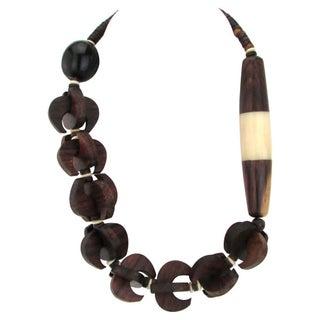 Boho Wood & Bone Necklace