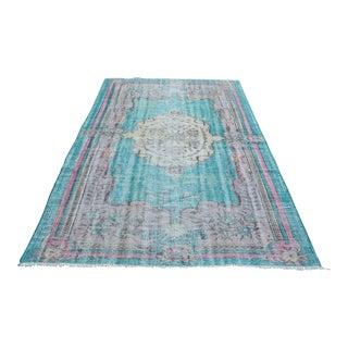 Turkish Handwoven Antique Oushak Carpet - 5′8″ × 8′11″