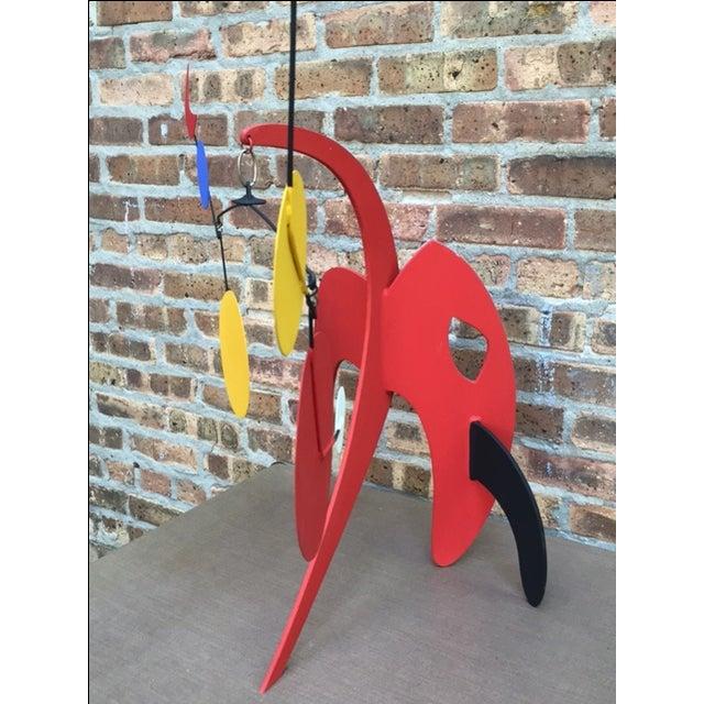 Vintage Calder Style Stabile Mobile Sculpture - Image 4 of 11