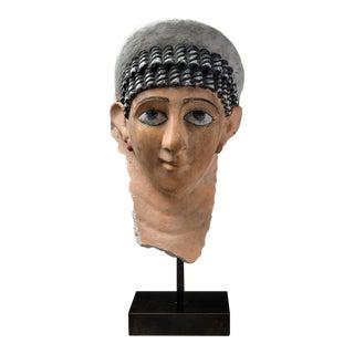 Roman Period Stucco Funerary Mask of a Woman