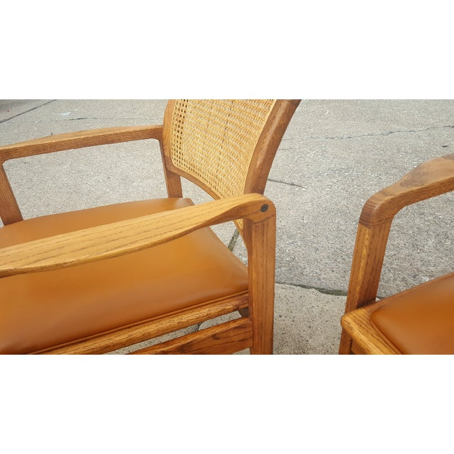 Vintage Rattan Back Guest Armchairs - Pair - Image 8 of 8