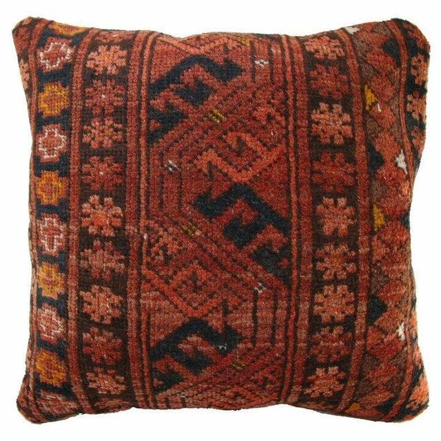Image of Rust Vintage Turkish Carpet Pillow