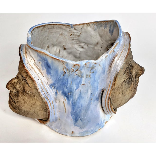 1970 Double Faced Pottery Planter - Image 10 of 10