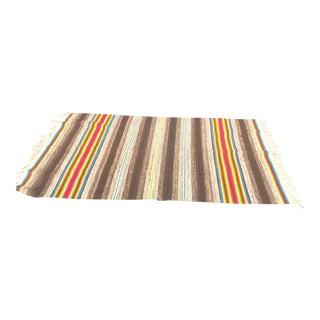 Vintage Boho Wool Textile Blanket
