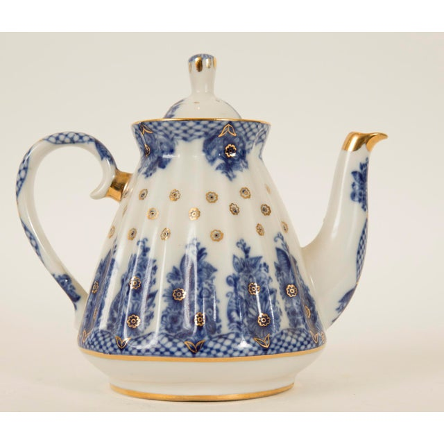Lomonosov Cobalt Blue & Gold Porcelain Teapot - Image 2 of 11