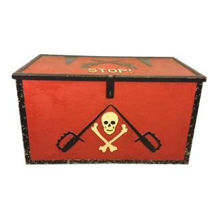 Vintage Red Pirate Trunk