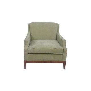 Sea Foam Chenille Club Chair