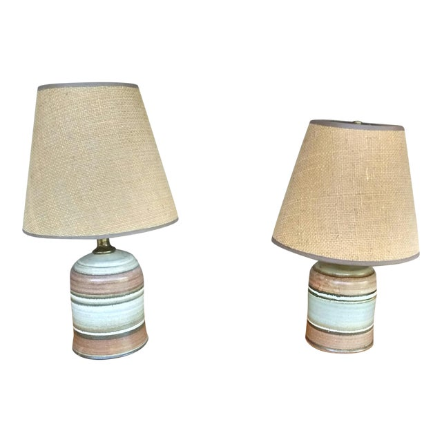 Mid-Century Ceramic Table Lamps - A Pair - Image 1 of 4