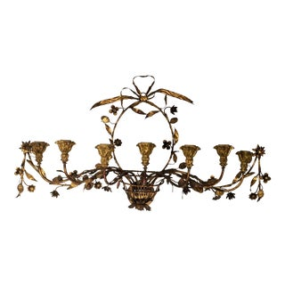 Italian Gilt and Tole Basket Sconce