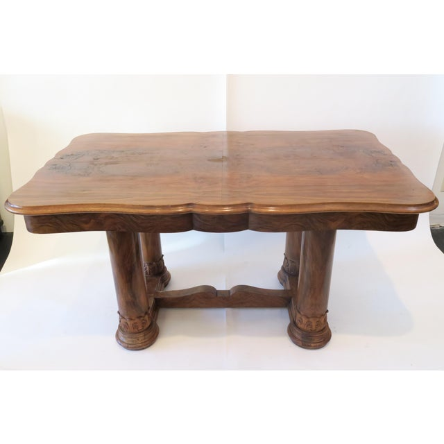 Beidermeier Style Dining Table - Image 3 of 8