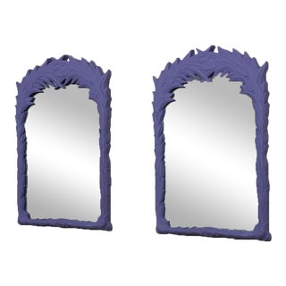 A Pair of Purple Mirrors in the Manner of Serge Roche 1970s