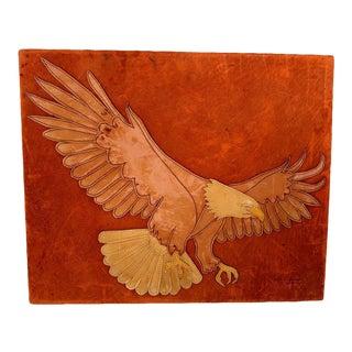 Marc O Johnson Eagle in Leather Art Work