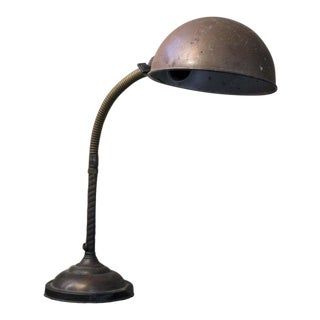 Vintage 1930s Gooseneck Desk Lamp