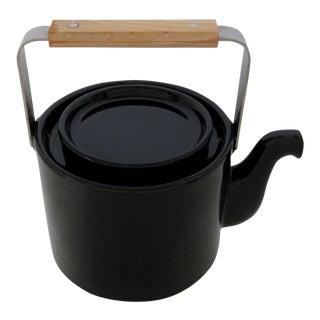Black Glazed Teapot