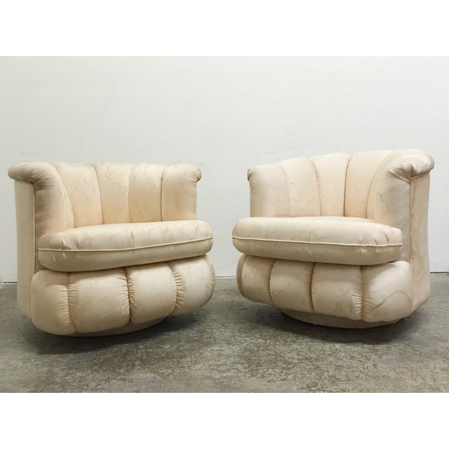 80s Glam Swivel Chairs - A Pair - Image 2 of 7